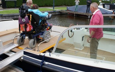 The SK Vlet that has been adapted to wheelchair users